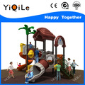 funny children entertainment equipment top design plastic play house with slide cute educational playground equipment used