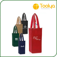 Customize non woven eco gift shopping tote one bottle wine bags,custom logo available