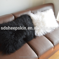 Top Popular Mongolian lamb Sheepskin fur Cushion Cover