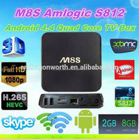 M8S Trending Hot Android Tv Box The Newest Smart Tv Box Hd Iptv M8S From Home Strong