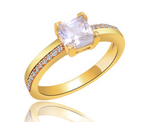 2015 hot sale wholesale wedding gold ring 18k plated fashion jewelry