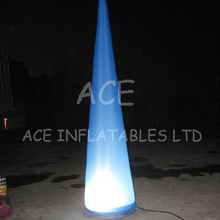 Customized inflatable event decoration inflatable cone light tube