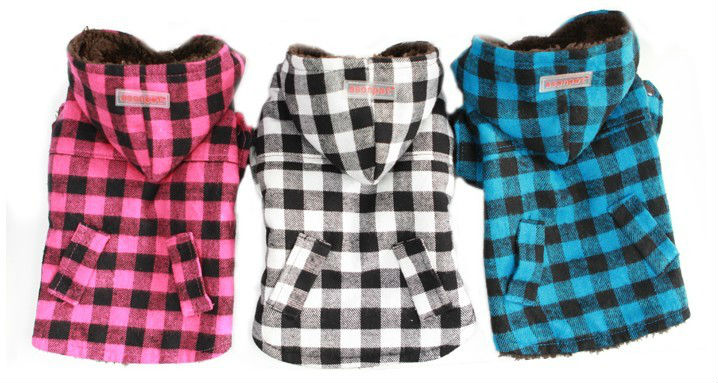 Retro plaid Pet dog hoodie clothing