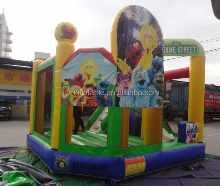 Sesame Street used bouncy castles for sale/kids bouncy castle