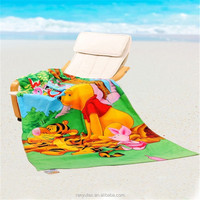 China textile supplier wholesale large digital printed beach towels