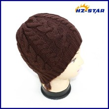HZM-14115009 High Quality Wholesale Cheap Custom Beanies baby women's style ladies hand knit fashion winter knitted caps