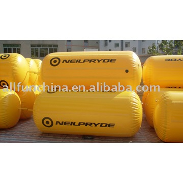 inflatable air buoys in cylinder shape for open water advertising