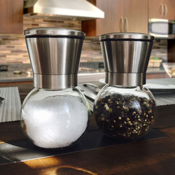 Stainless Steel Pepper & salt grinder with glass body