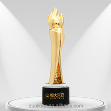 Wholesale factory direct customized bronze plated torch metal gold sport trophy cup award trophy trophies