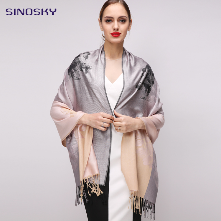 Best Quality With Small Moq 100% Viscose Scarf Hijab Floral Muslim Women Shawls