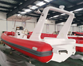 8.5 m rigid hull inflatable boat wholesale /RIB boat factory/France Orca red color 866 hypalon