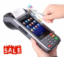 EMV CE handheld portable smart mobile pos terminal machine device pda payment system with 58mm printer