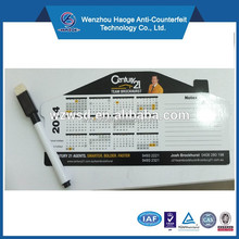 Custom laminated paper calendar fridge magnet