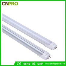 T8 LED Light Tube, 4ft, 18W (40W equivalent), 3000K (Soft White Glow), 2100 Lumens, Single End Powered, Frosted Lens