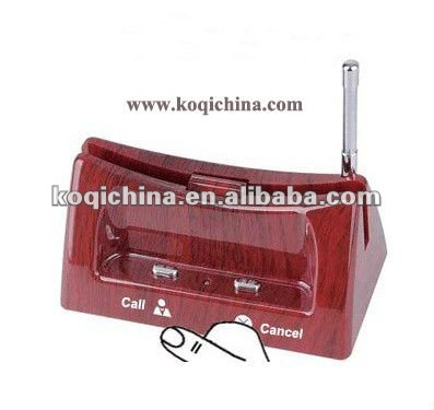 Wireless transmission system, waiter call system,menu holder