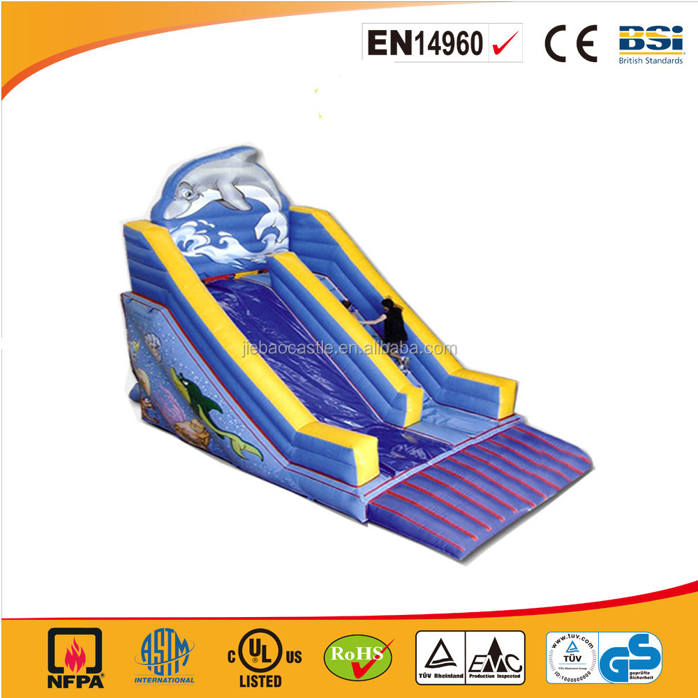 china low price high quality garden inflatables slides/ cheap inflatable dry slides for child for party use
