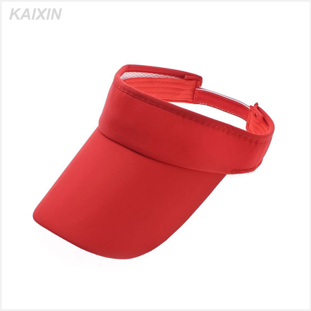 Fashioal Red 100% Cotton Sports Sun Visor