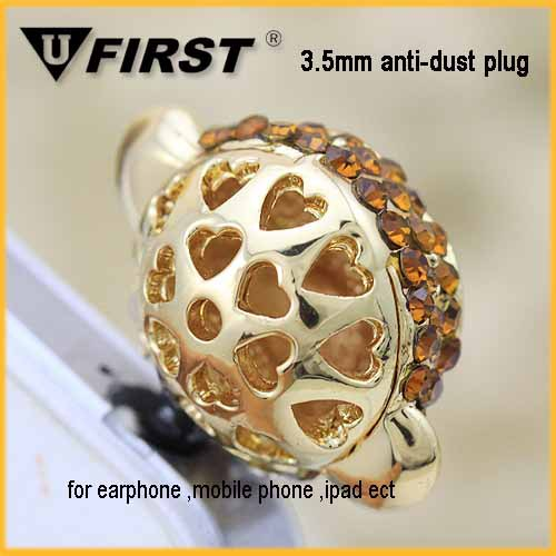 3.5mm hot selling diamond alloy Monkey head design dust plug for samsung s4 wholesale plug