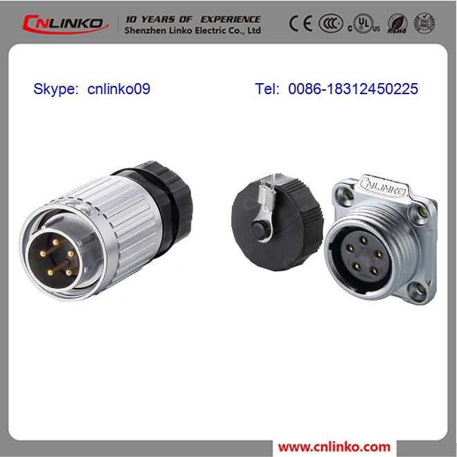 IP67 Waterproof and Explosion Proof Plug and Socket 5 Pin Female Connector, Male Aviation Plug Connector from China CNLINKO
