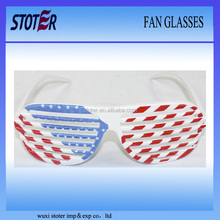 football fan glasses in flag colour for 2014 brazil world cup