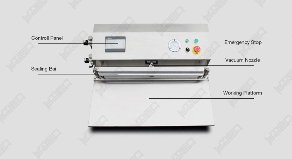 MEDICAL supply vacuum sealer packaging machine for gown,syringe,gauze