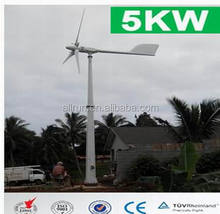 high efficiency 380w 220v 230v 110v 96v 5kw wind turbine generator for home