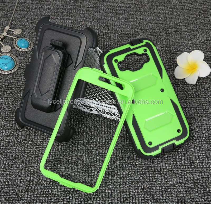 Heavy Duty Hybrid Armor Combo Holster Cover With Belt Clip Stand phone case for Samsung Core Prime G360 Accessory