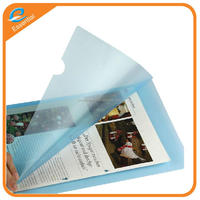 A4 size L shape plastic file folder