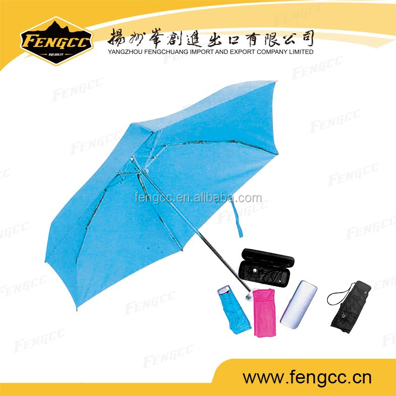 Cheap 2 folding promotion umbrella in OEM of small MOQ
