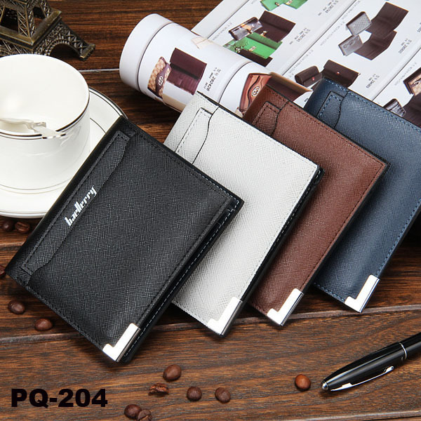 Leather Mens Small ID Credit Card Wallet Holder Slim Pocket Bifold Wallet