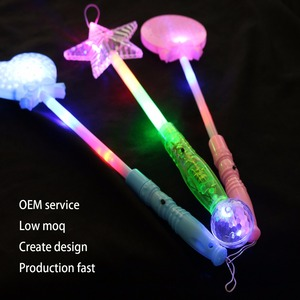 Custom logo party supplies decorations clear shining colorful stars glow sticks led glow stick