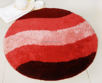 Anti-slip latex back acrylic round rugs/ washable rugs for sale