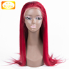 2018 factory stock wholesales red color straight natural hairline full lace wig for black and white women