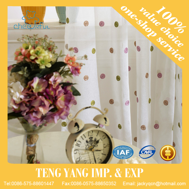 Home textile Bedroom use Modern kitchen window curtains
