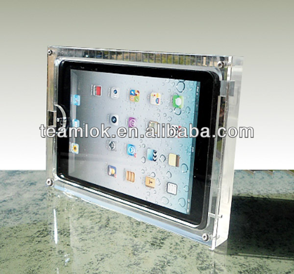 Hanging acrylic ipad display stand,phone display holder secure