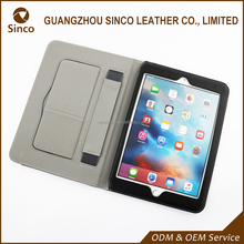 Different colors pu flip leather case for ipad tablet