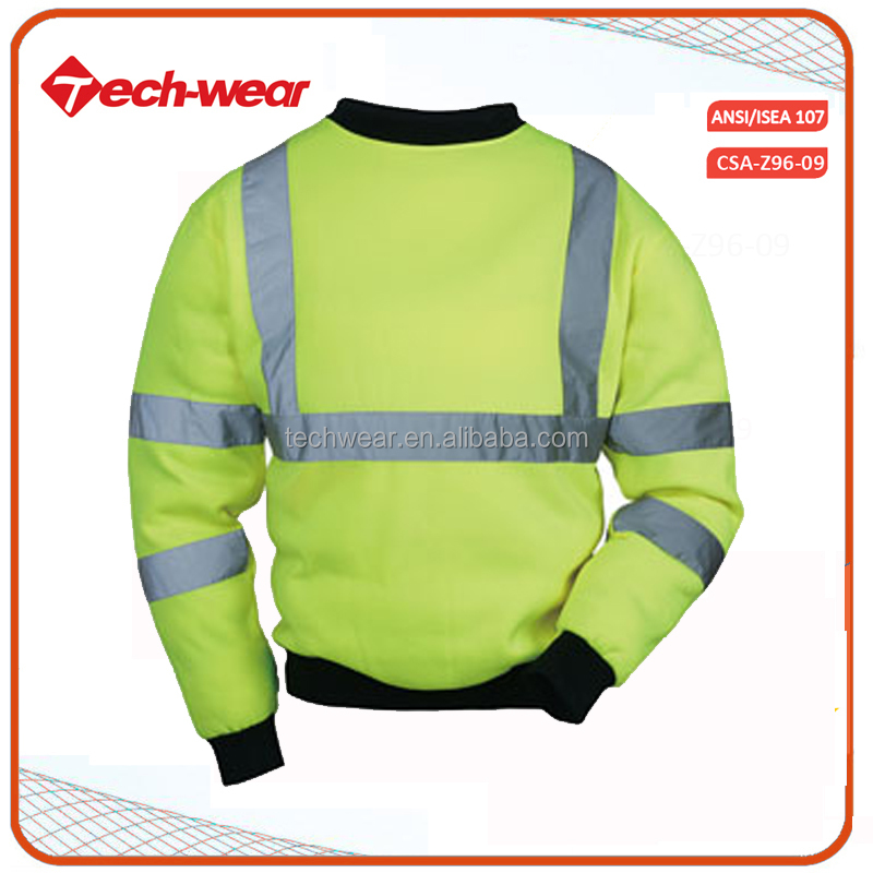 Hi Vis international wholesale protective clothing yellow fleece jackets