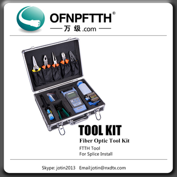 ftth fiber optic cable tool box kit splicing tool kit Drop Cable Stripper