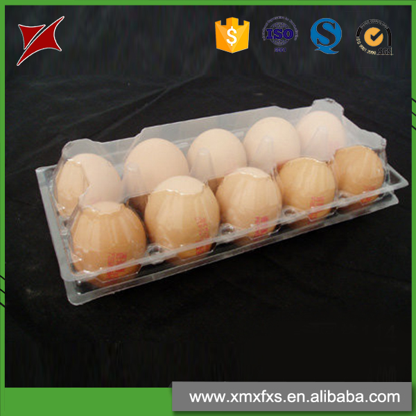 Newest design compartment blister PVC 10 packs plastic egg tray