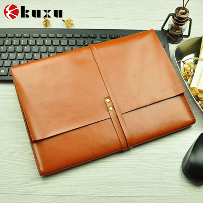 2016 High quality best sell cheap leather laptop sleeve