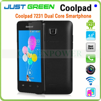 Factory Price!Resolution 800x480 Bluetooth 2MP Camera Battery 1500mAh 4.0 Inch TFT Capacitive Screen Mobile Phone Coolpad7231