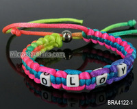 Silk alphabet beads personalised friendship bracelets