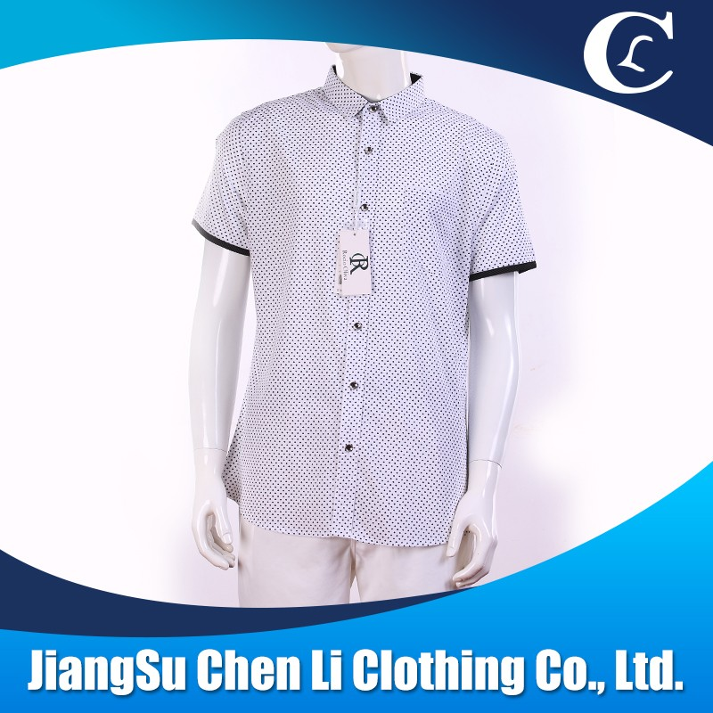 Wholsale short sleeve shirts latest dot casual shirt designs for mens