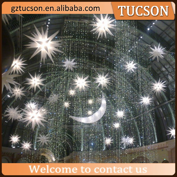 advertising led ball/PVC inflatable star for decoration for sale