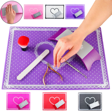 Silicone Nail Art Mat Hand Arm Rest Nail Pillow Manicure for Salon chair arm rest pad