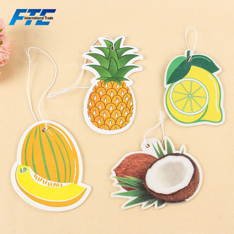 Eco-friendly Fruit Shape Cheap Car Perfume Car Accessories Car Air Freshener
