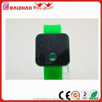Cartoon Kids Watches Green LED Silicon Wrist Watch