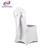 White spandex chair cover with spandex band for wedding