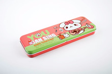 OEM double layers metal tin pencil case DMA008