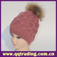 Top quality china supplier heavy knit small size acrylic winter baby hats